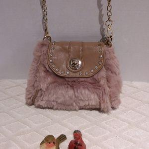 MMS faux fur purse-EUC